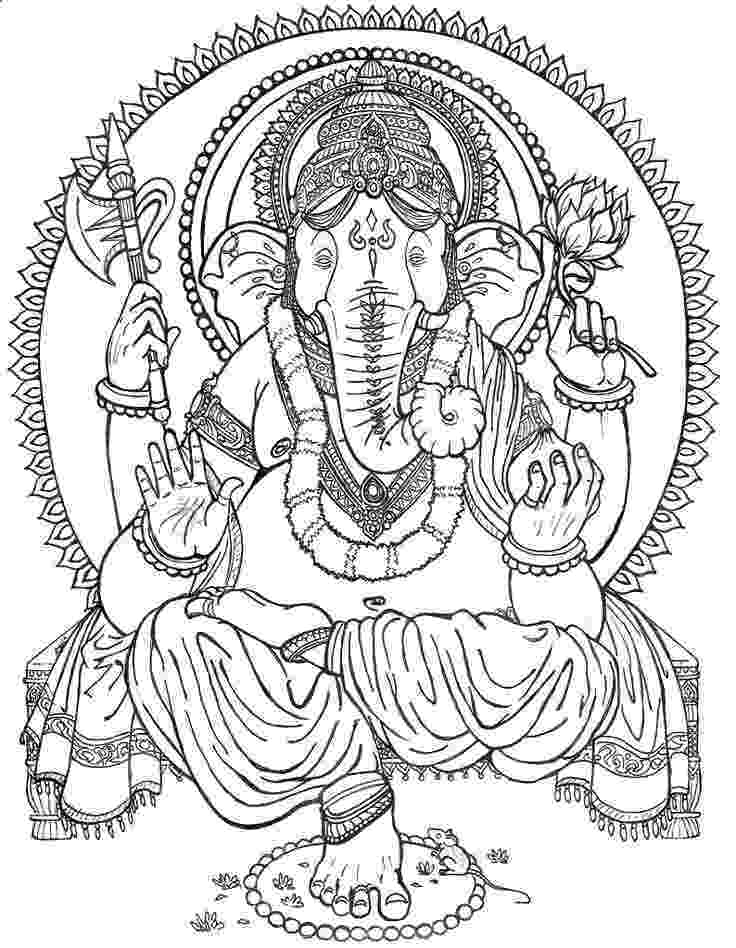 colouring pages of lord ganesha lord ganesha resting coloring page download free lord lord colouring pages ganesha of