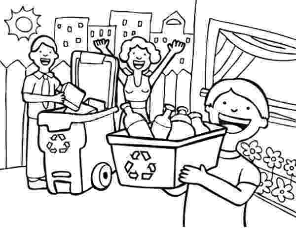 colouring pages recycling family learn the use of recycling coloring page family pages colouring recycling
