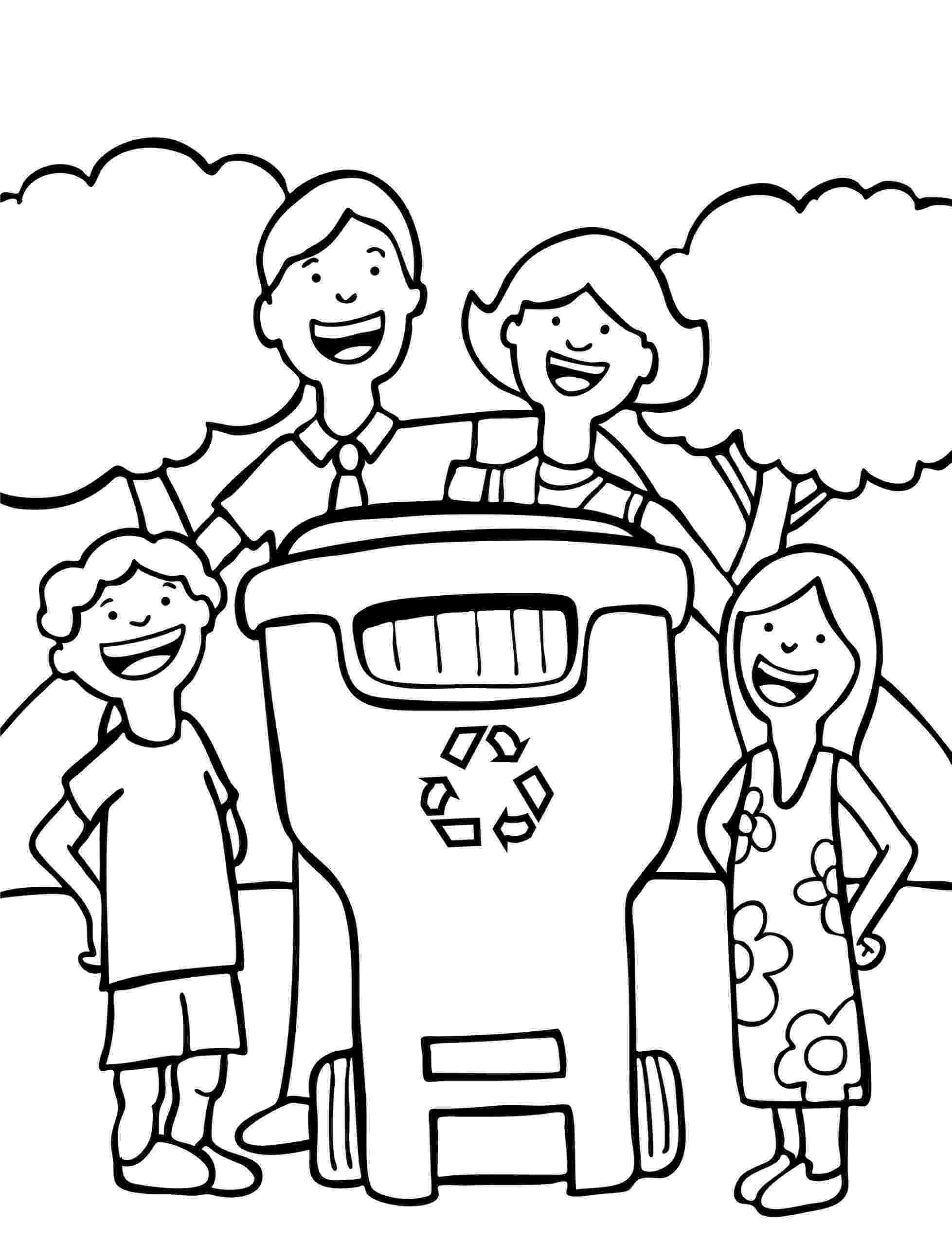 colouring pages recycling free earth day coloring page for children let39s recycle recycling colouring pages