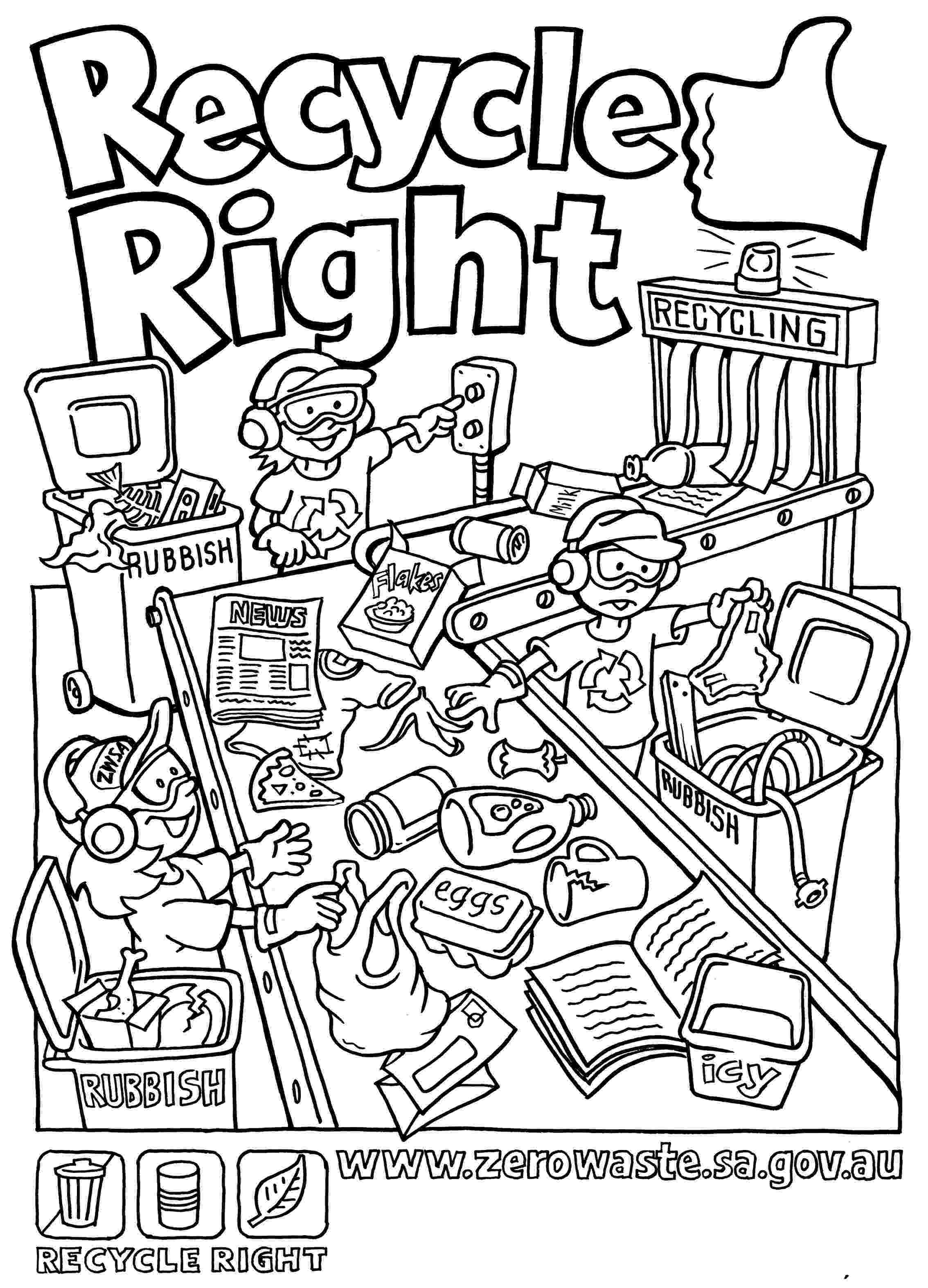colouring pages recycling the best earth day coloring pages pages colouring recycling