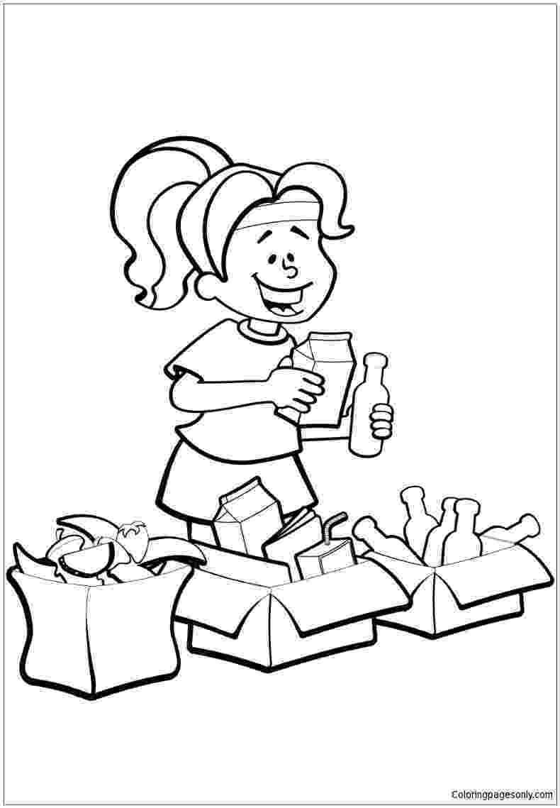 colouring pages recycling trash can coloring page at getcoloringscom free pages colouring recycling