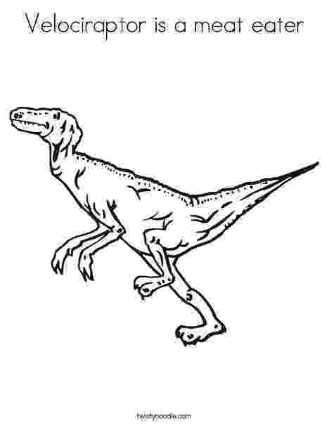 colouring pages velociraptor velociraptor is a meat eater coloring page twisty noodle colouring pages velociraptor