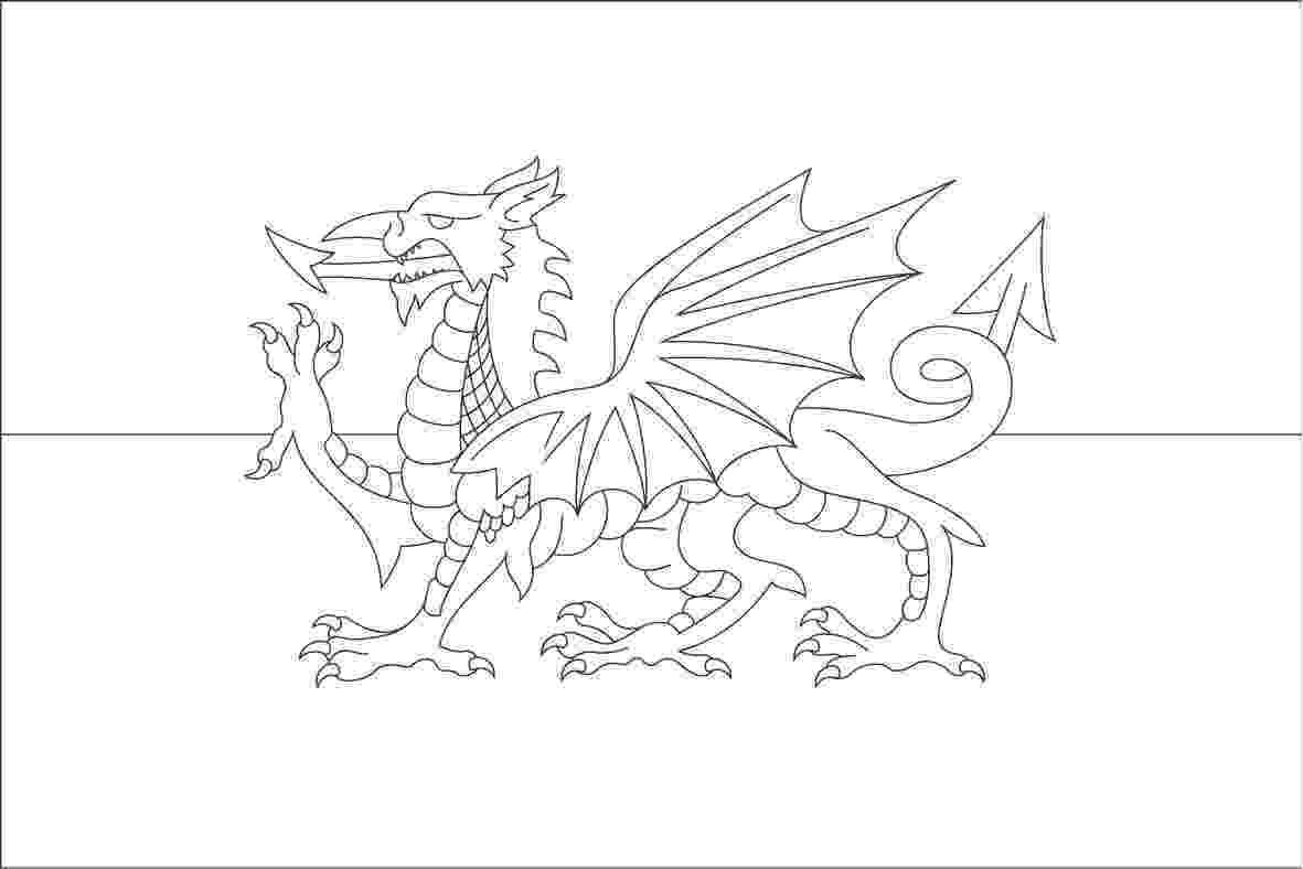 colouring pages welsh dragon 39y ddraig aur39 welsh dragon coloring page free pages welsh colouring dragon