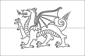 colouring pages welsh dragon heraldry dragon coloring page flag coloring pages welsh welsh dragon pages colouring