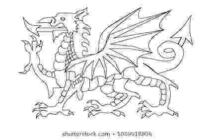 colouring pages welsh dragon welsh dragon images stock photos vectors shutterstock colouring welsh dragon pages