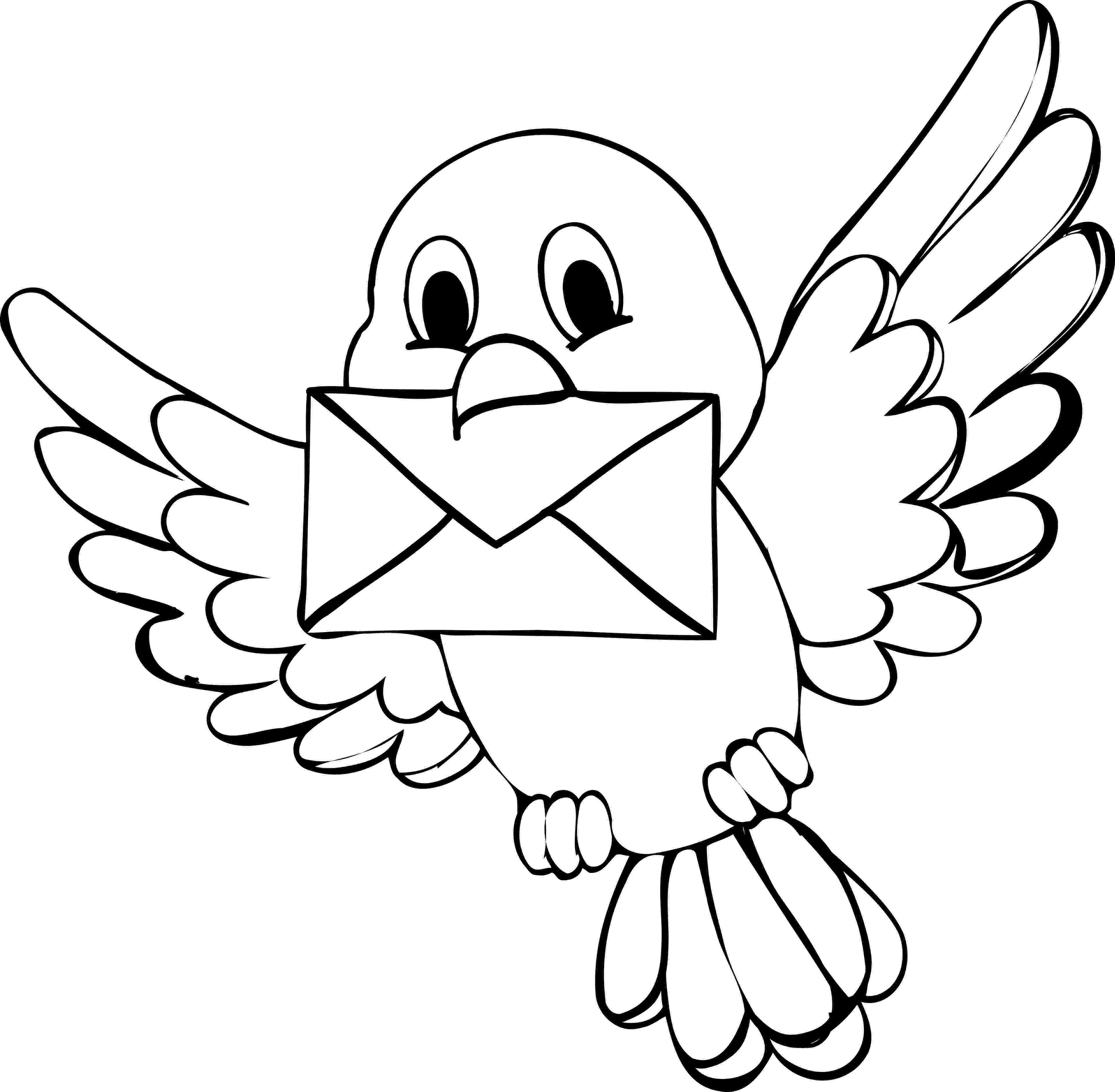 colouring picture bird line art coloring page bird with blossoms the picture colouring bird