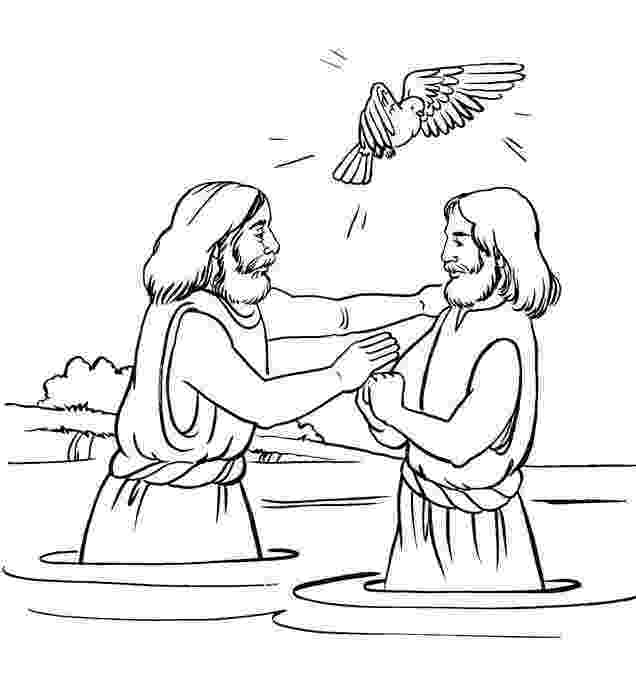 colouring picture jesus baptism 76 best images about coloring bible nt gospels on jesus colouring picture baptism