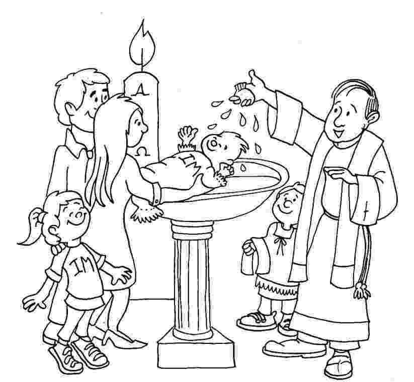 colouring picture jesus baptism baptism coloring page catholic baptism jesus coloring colouring jesus baptism picture
