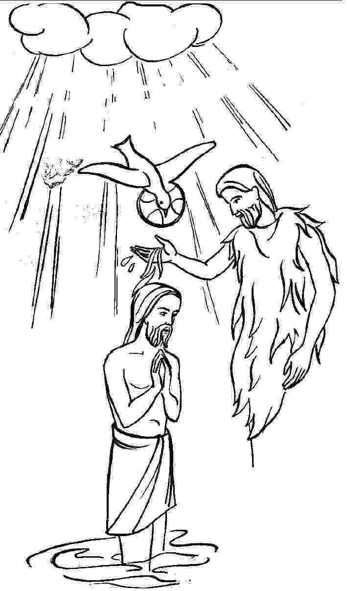 colouring picture jesus baptism baptism of jesus coloring pages pictures to pin on colouring baptism jesus picture