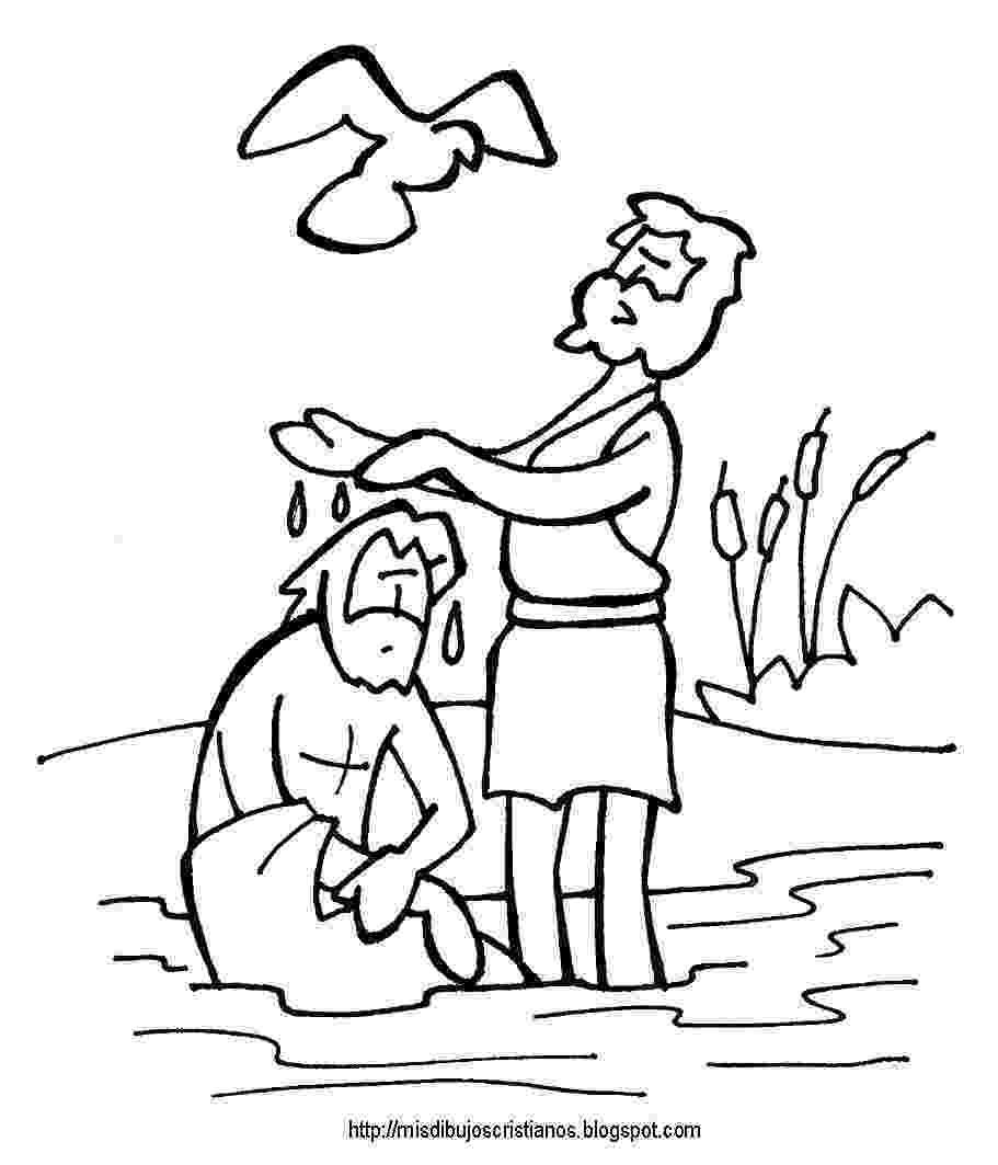 colouring picture jesus baptism bautizo de jesus baptism of jesus coloring page picture colouring baptism jesus