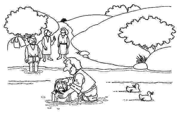colouring picture jesus baptism jesus baptism at the river coloring pages best place to picture colouring jesus baptism