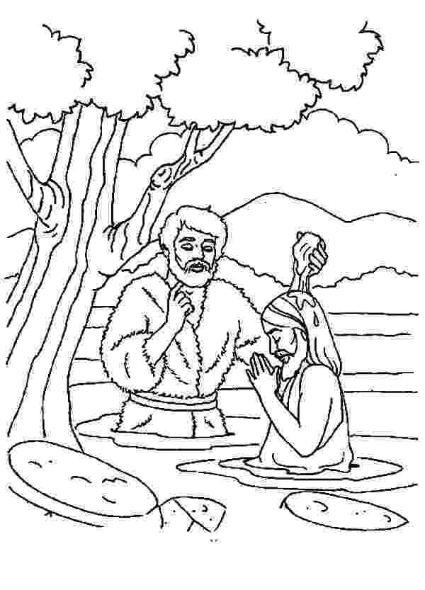 colouring picture jesus baptism jesuss baptism free colouring pages jesus colouring baptism picture