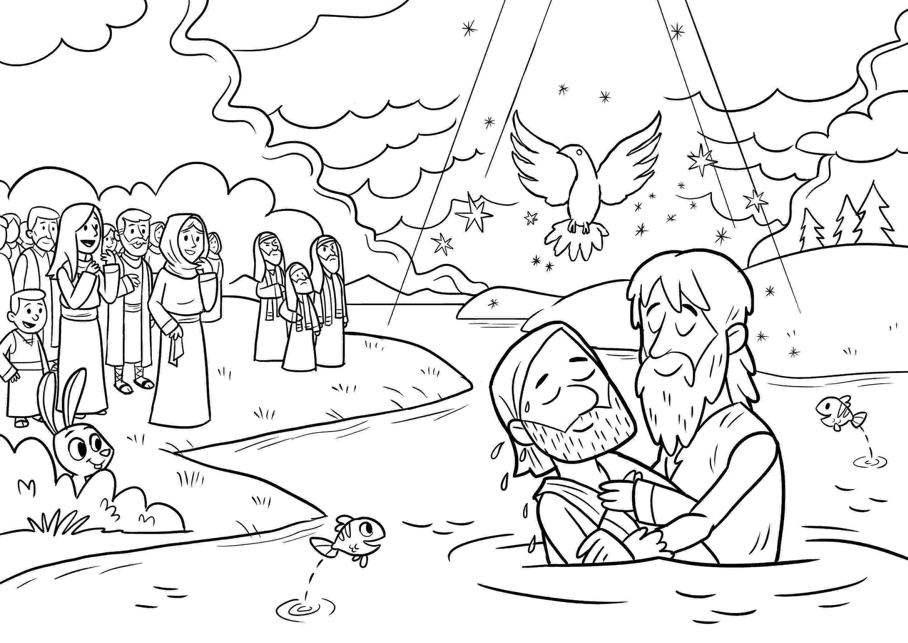 colouring picture jesus baptism pin by raj kumar on jesus baptised coloring sheets for colouring picture jesus baptism