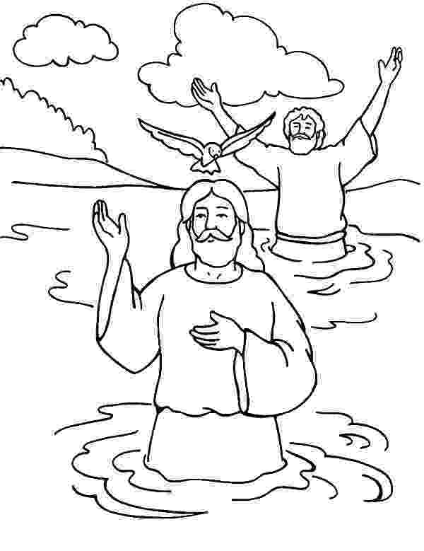 colouring picture jesus baptism welcoming holy spirit in baptism of jesus coloring pages jesus picture baptism colouring