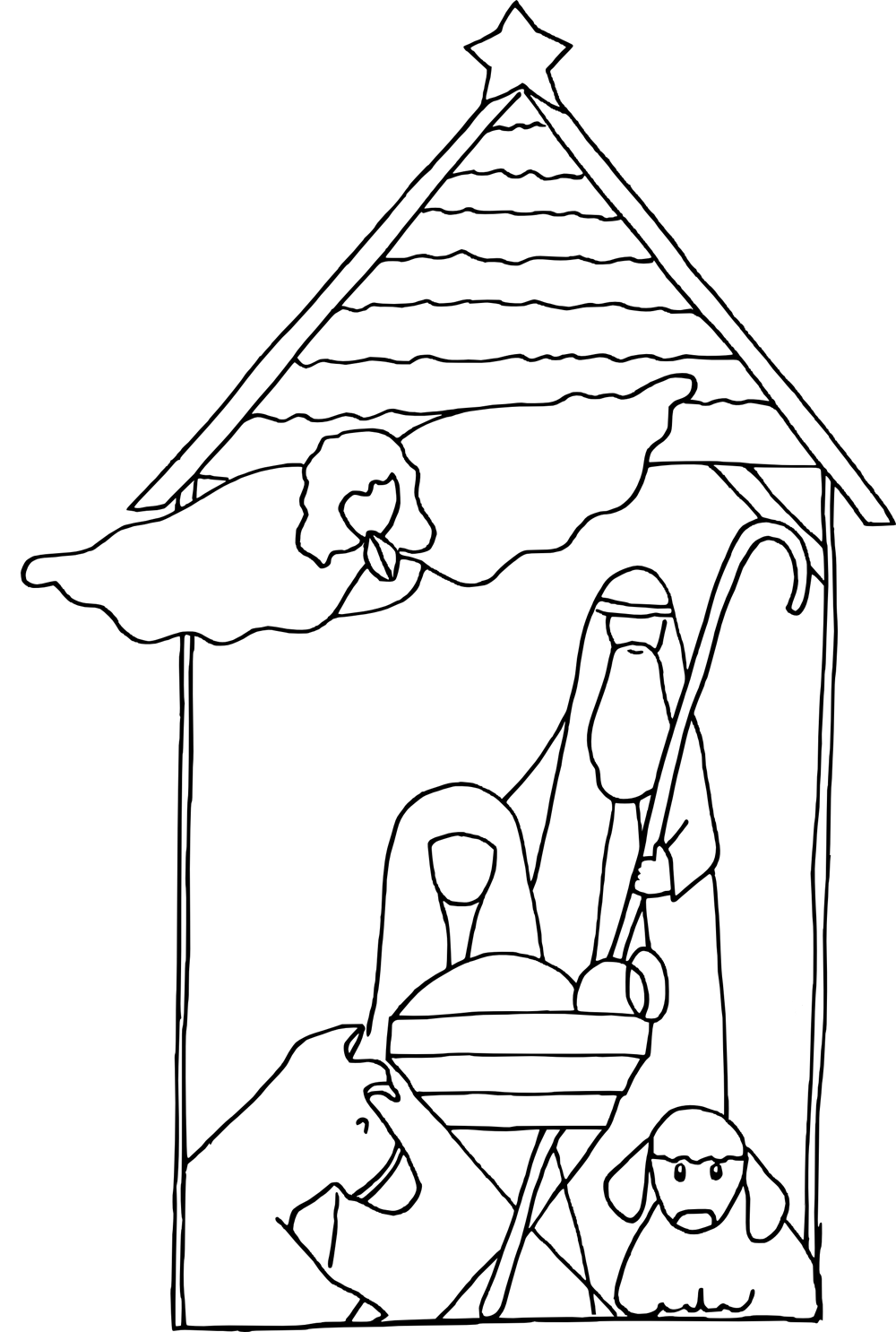 colouring pictures of baby jesus in a manger baby jesus in a manger image printable coloring page in manger baby of pictures a colouring jesus