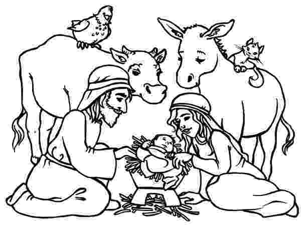 colouring pictures of baby jesus in a manger baby jesus in a manger in nativity coloring page color luna of colouring a pictures jesus baby in manger