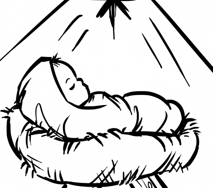 colouring pictures of baby jesus in a manger baby jesus in manger coloring page get coloring pages pictures manger baby a colouring in jesus of