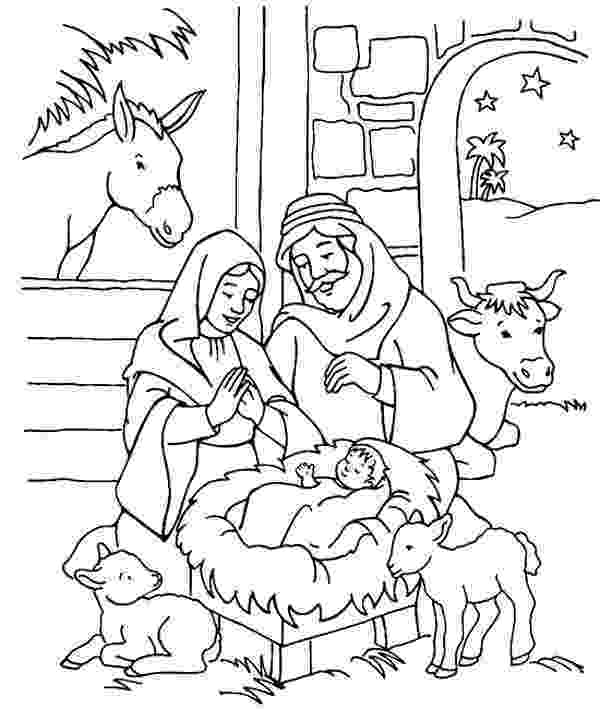 colouring pictures of baby jesus in a manger baby jesus in manger drawing at getdrawingscom free for a of jesus colouring pictures in baby manger