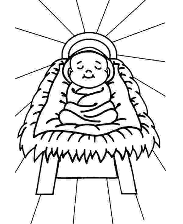 colouring pictures of baby jesus in a manger baby jesus sleep in a manger coloring page kids play color pictures jesus baby in of colouring manger a