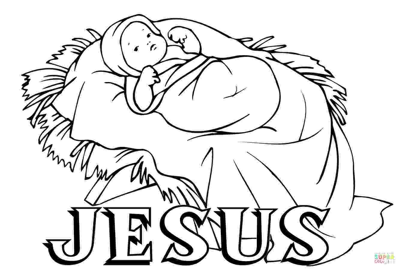 colouring pictures of baby jesus in a manger coloring pages of jesus in the manger at getcoloringscom baby colouring pictures a of manger in jesus