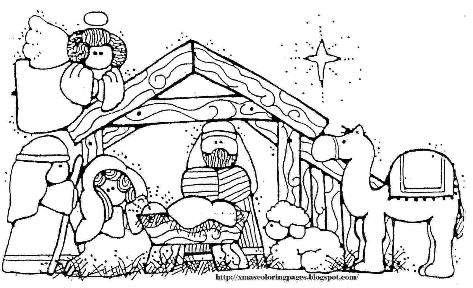 colouring pictures of baby jesus in a manger xmas coloring pages manger a in colouring jesus of baby pictures