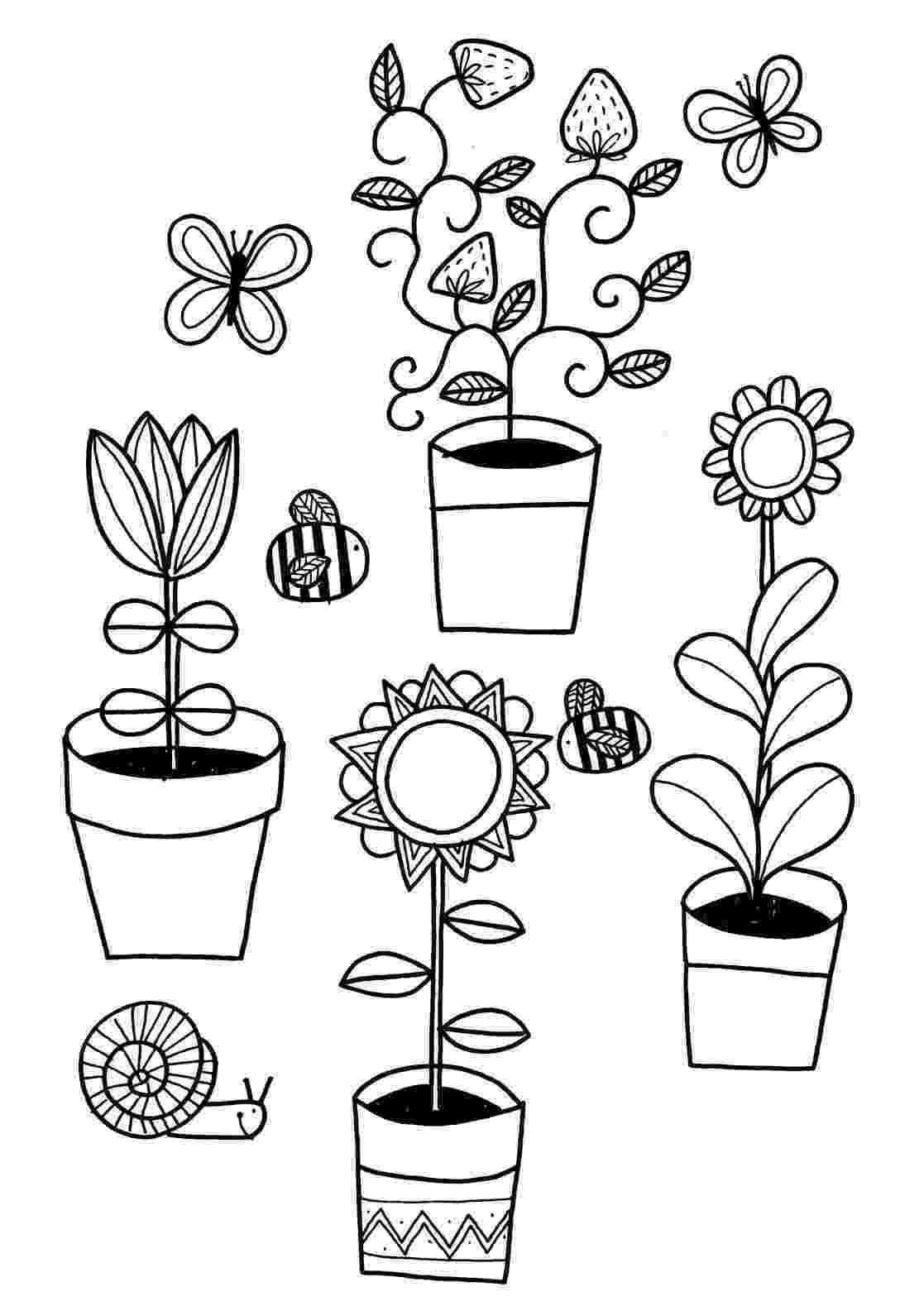 colouring pictures of plants free printable flower coloring pages for kids best colouring pictures plants of