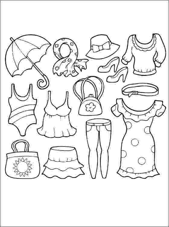 colouring pictures of summer clothes summer clothings 211x300jpg 211300 school clothes colouring pictures summer of