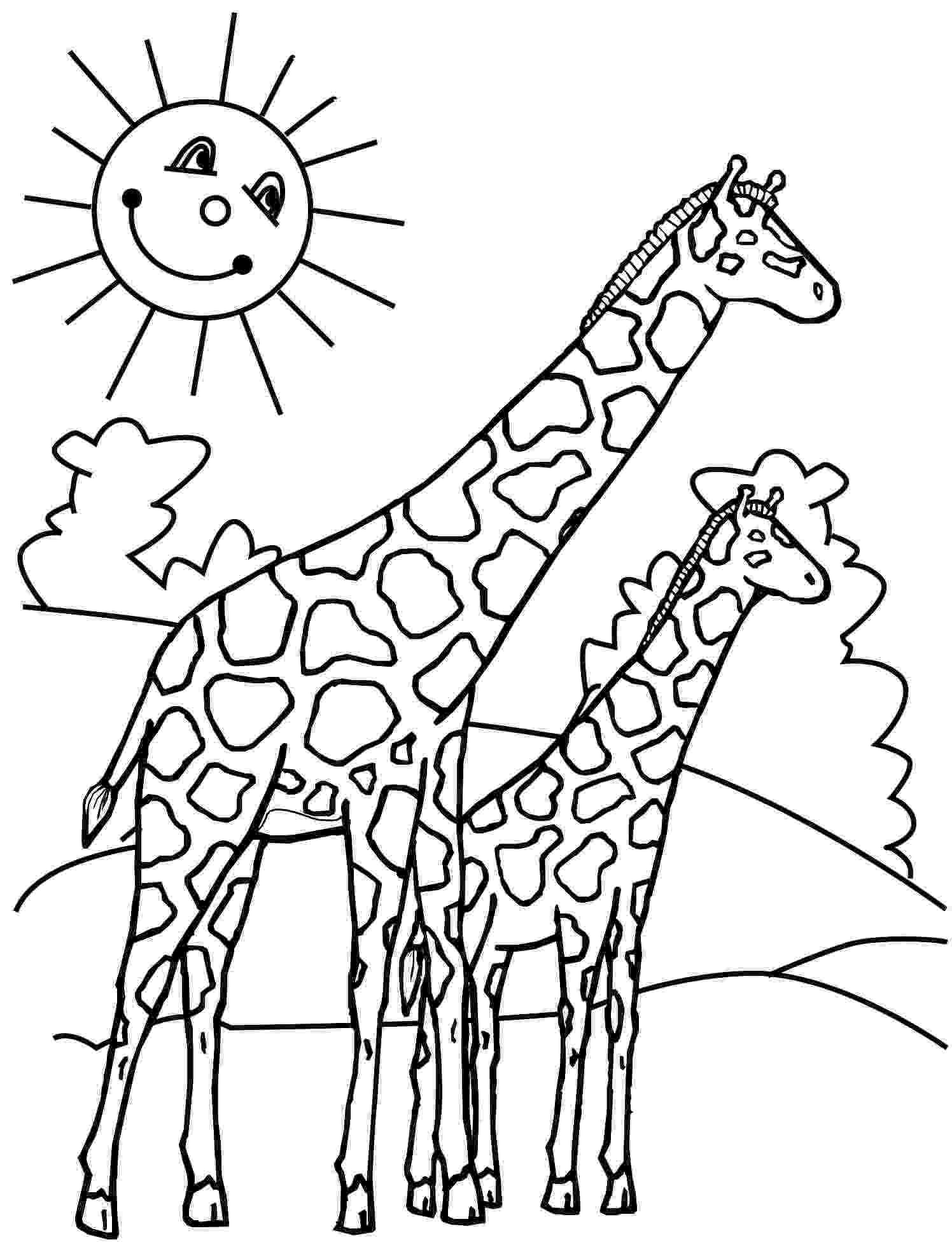 colouring sheet giraffe giraffe coloring pages coloring pages to print sheet colouring giraffe