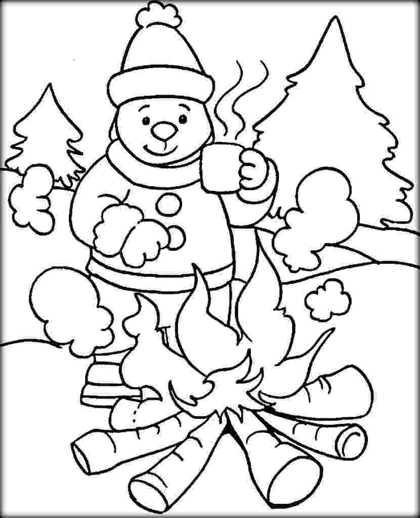 colouring sheets winter cold weather drawing at getdrawingscom free for sheets winter colouring