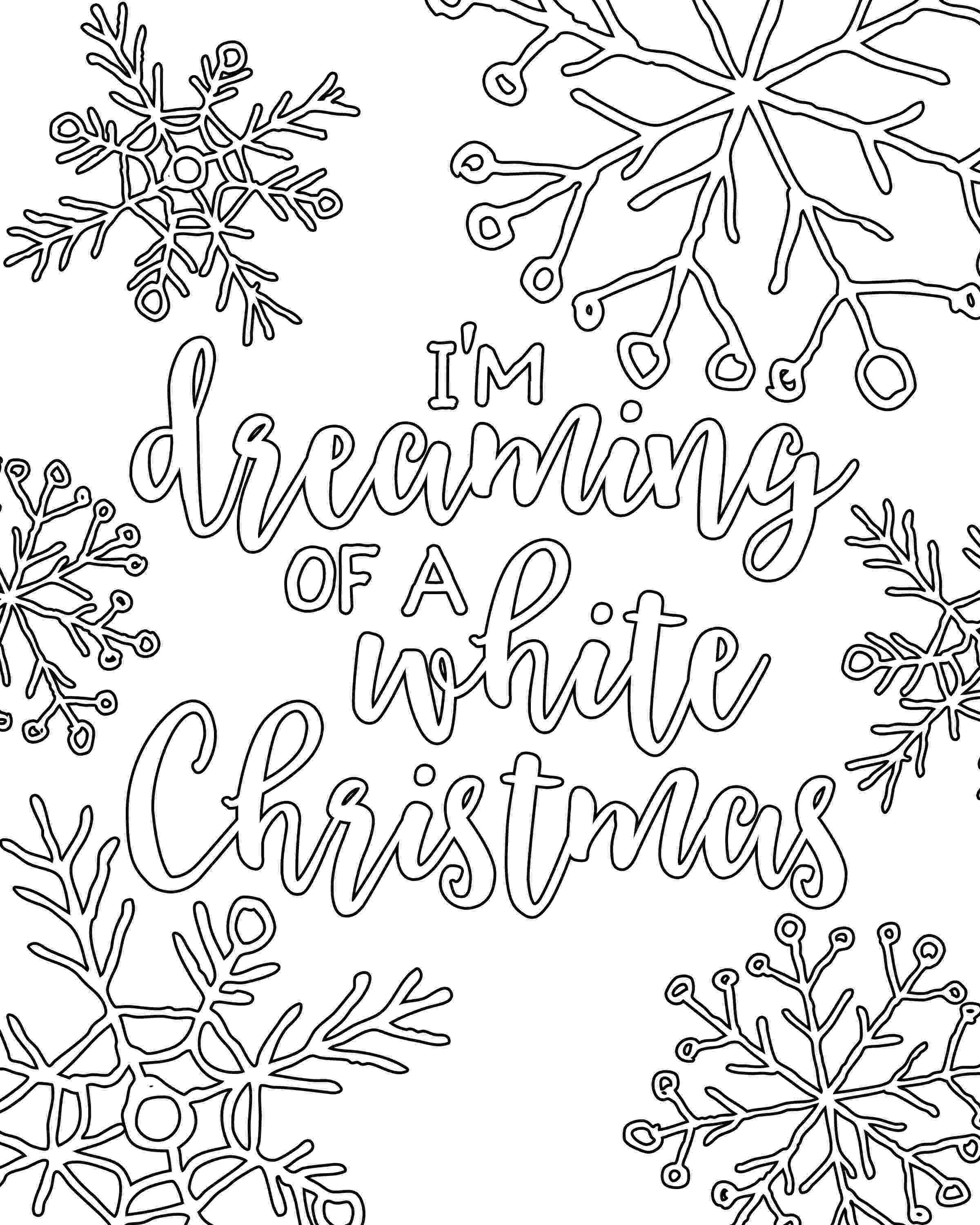 colouring templates christmas free printable white christmas adult coloring pages our christmas templates colouring