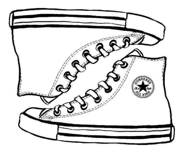 converse shoe coloring sheet converse sketch drawing coloring page shoes shoes sheet converse coloring shoe