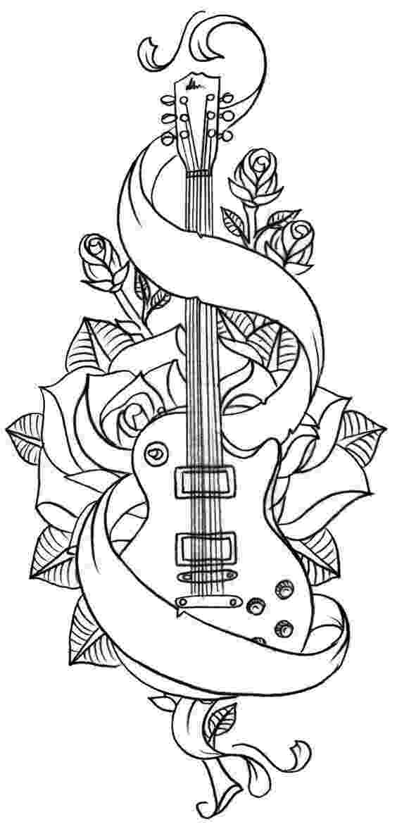 cool guitar coloring pages amazing acoustic guitar printables wood guitars free pages cool coloring guitar