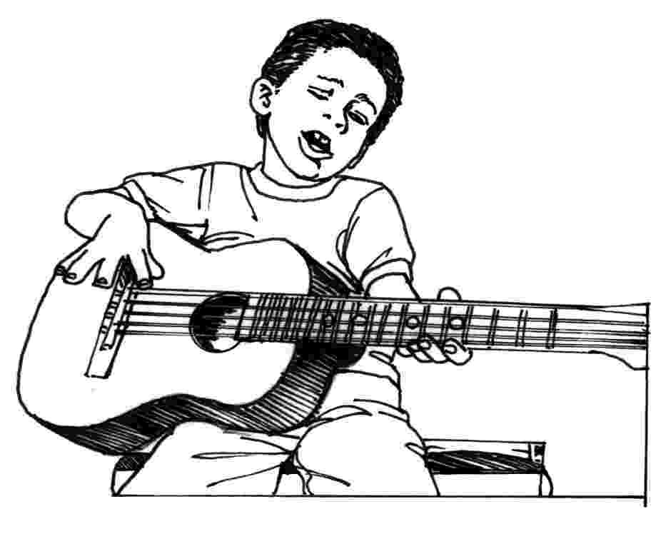 cool guitar coloring pages guitar coloring pages getcoloringpagescom coloring cool guitar pages