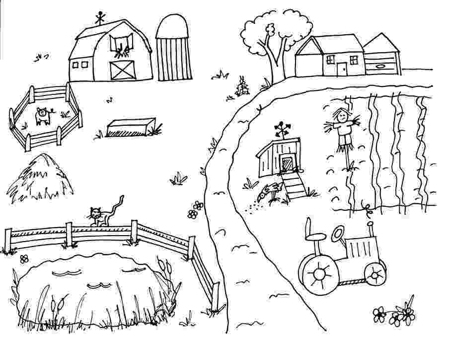 country colouring pages colour in the country country style magazine39s new colouring pages country