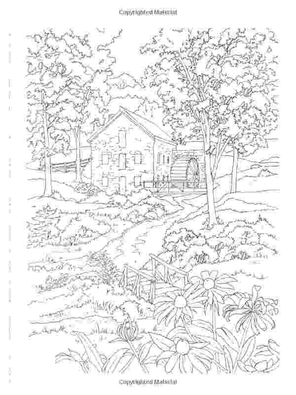 country colouring pages country scenes to paint or color dover art coloring book colouring pages country