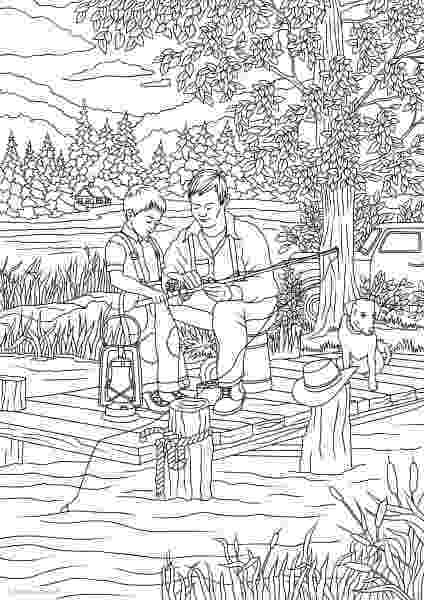 country colouring pages country spring country fishing printable adult colouring pages country