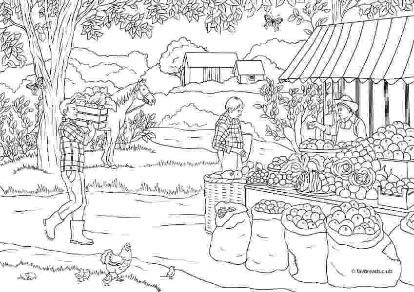 country colouring pages country spring country market printable adult coloring country pages colouring