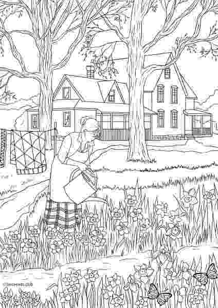 country colouring pages country spring printable adult coloring pages from favoreads colouring country pages