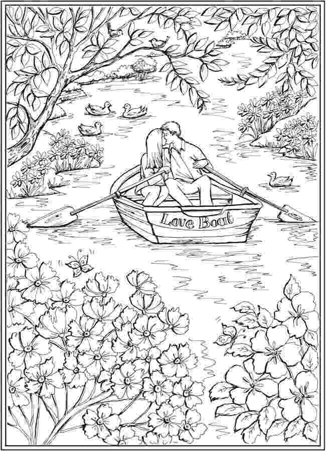 country colouring pages country spring village view printable adult coloring country colouring pages