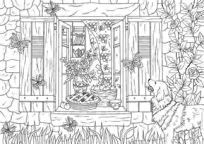 country colouring pages free coloring pages for adults the country chic cottage pages colouring country