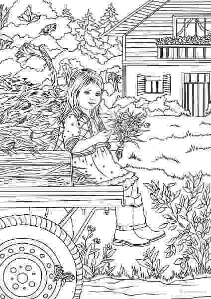 country colouring pages page 4 of 7 country charm a creative haven coloring book colouring pages country
