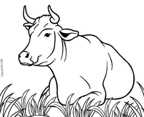 cow coloring pages cute cow animal coloring books for kids drawing cow coloring pages