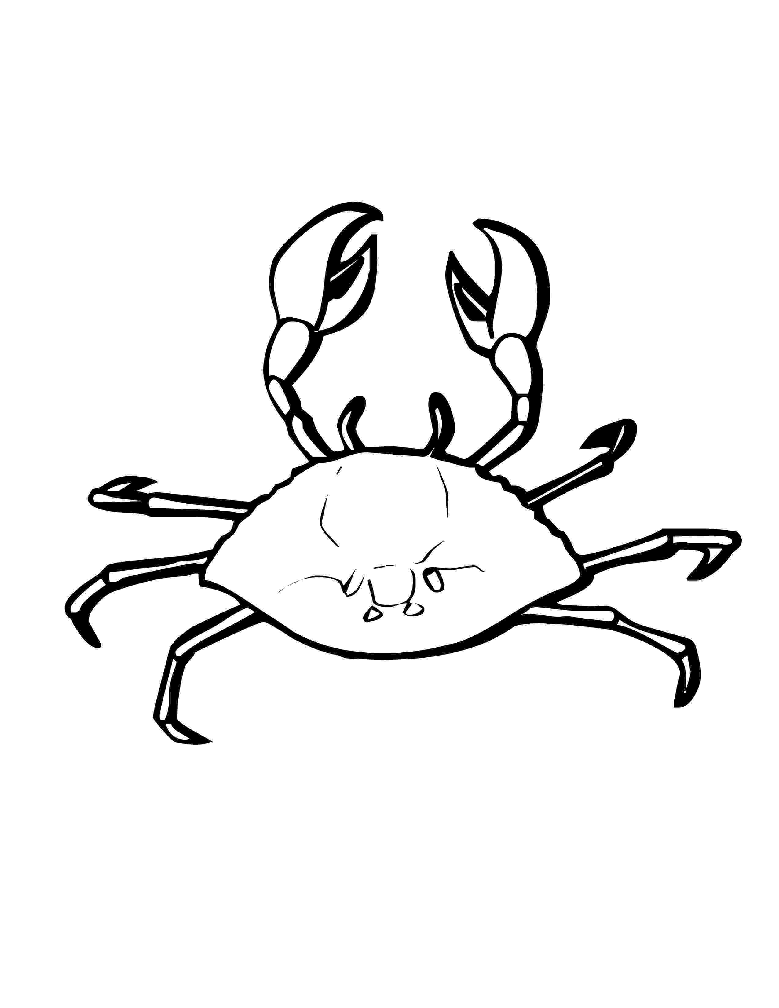 crab pictures to colour free printable crab coloring pages for kids animal place colour pictures to crab