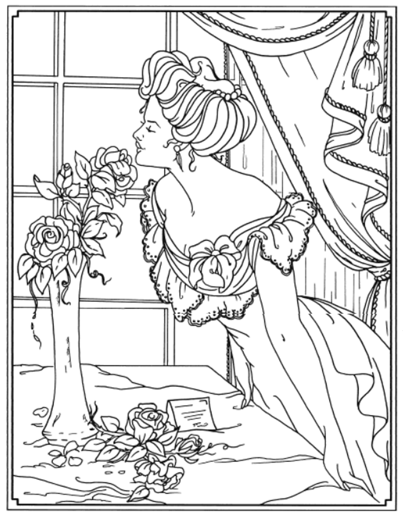 creative coloring pages creative haven american beauties coloring book dover coloring creative pages