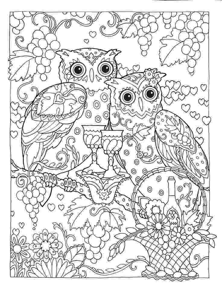 creative coloring pages creative haven owls coloring book by marjorie sarnat creative coloring pages
