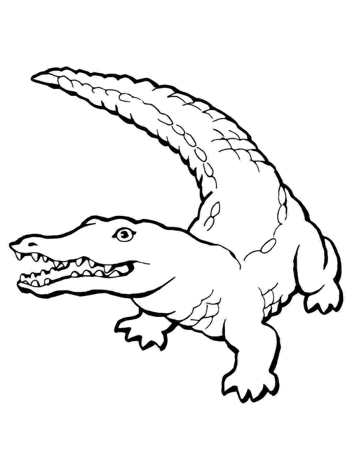 crocodile coloring free printable crocodile coloring pages for kids coloring crocodile 1 1