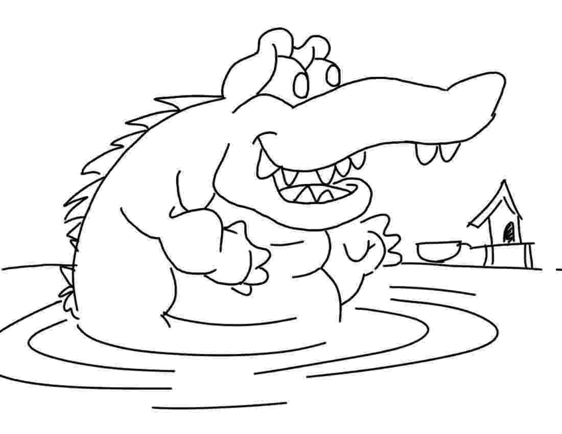 crocodile coloring free printable crocodile coloring pages for kids crocodile coloring 1 2