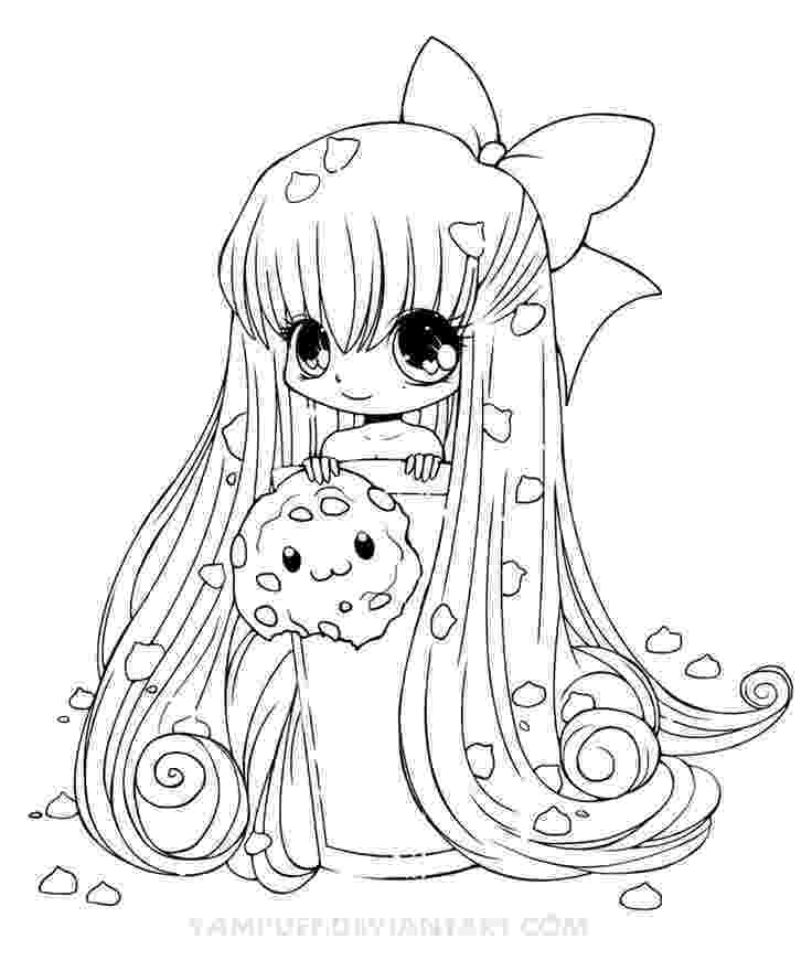 cute anime coloring pages chibi cookie line art by yampuff on deviantart colour cute coloring anime pages