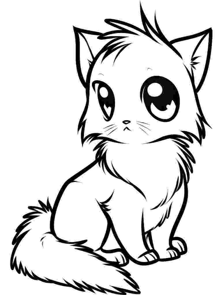 cute kitten colouring pages free printable cat coloring pages for kids colouring kitten cute pages