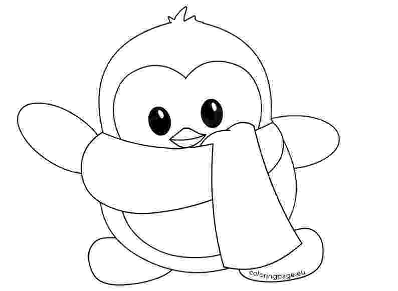 cute penguin pictures to color baby penguin coloring pages getcoloringpagescom to pictures cute penguin color